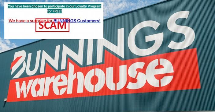 'Do not click': Bunnings loyalty email is a scam